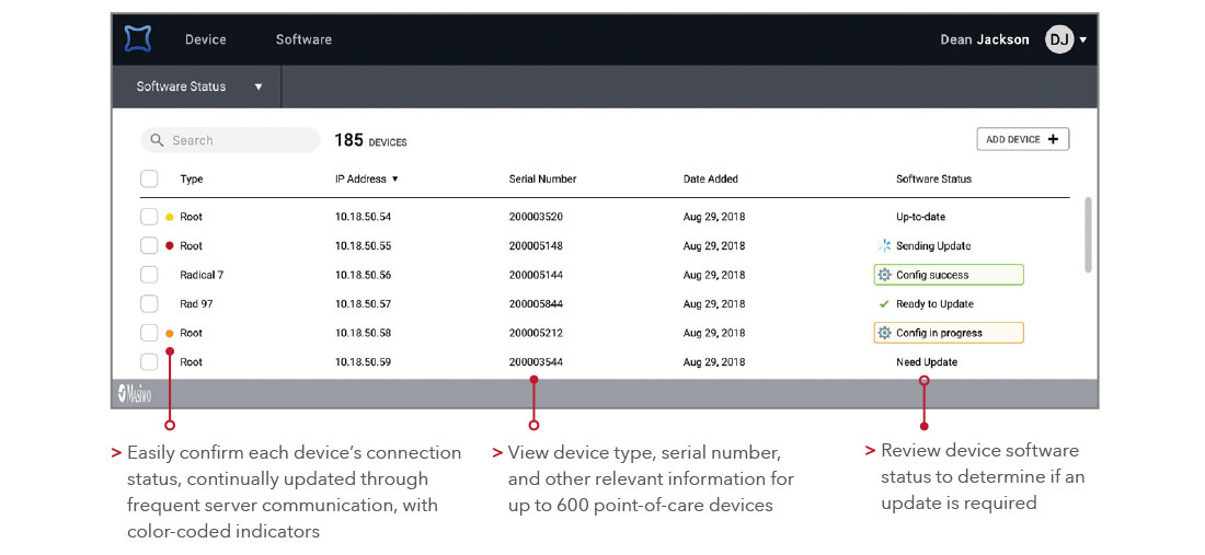 Masimo - At-A-Glance Device Diagnostic Information call out